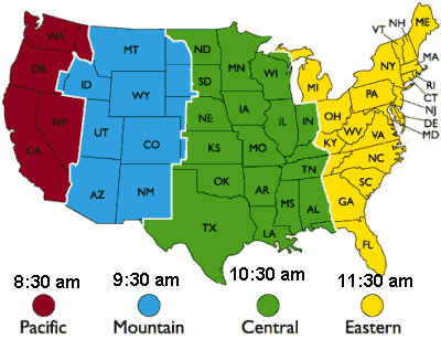 ere is a link tothe Current USA Times by Time Zones.